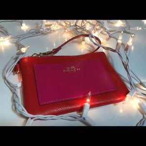Coach red and pink Wristlet wallet